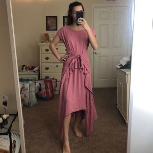 NWOT Free People Ruffled Maxi Dress